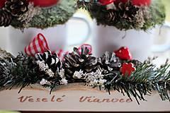 Dekorácie - Vidiecky vianočný svietnik - 8851517_