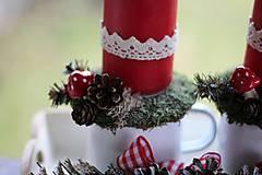 Dekorácie - Vidiecky vianočný svietnik - 8851519_
