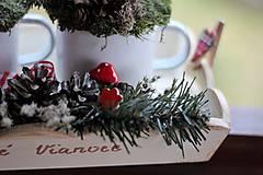Dekorácie - Vidiecky vianočný svietnik - 8851520_