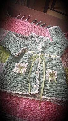 Detské oblečenie - Kabatik zeleny - 8851415_