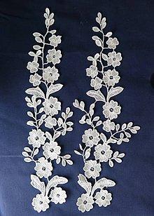 Textil - čipková aplikácia LA33 - 8856070_