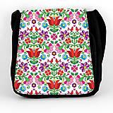 Iné tašky - Taška na plece L farebné folk kvety 04 - 8851387_