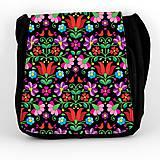 Iné tašky - Taška na plece L farebné folk kvety 04 - 8851391_