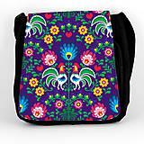 Iné tašky - Taška na plece L farebné folk kvety (Fialová) - 8854244_