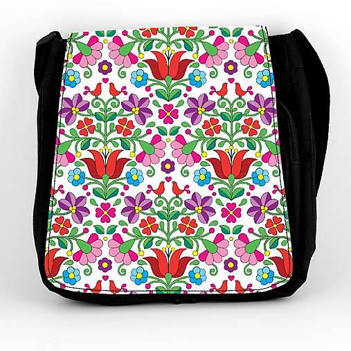 Taška na plece L farebné folk kvety 04