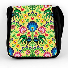 Iné tašky - Taška na plece L farebné folk kvety (Žltá) - 8854269_