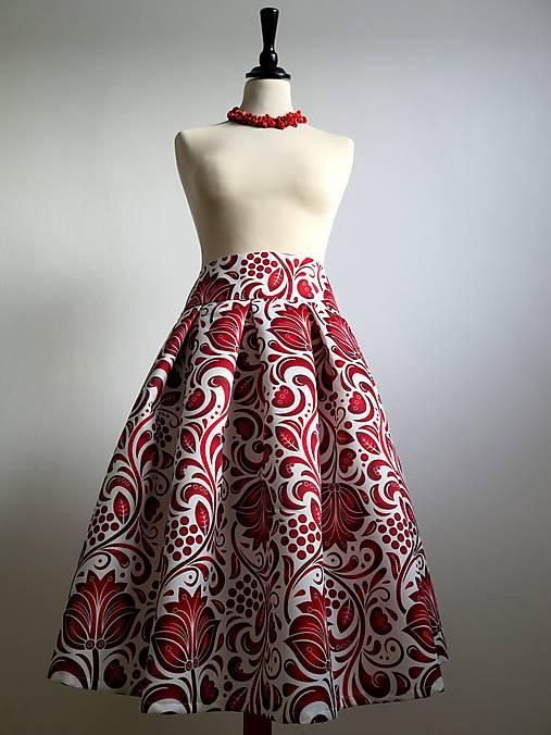 slávnostná sukňa Červený ornament