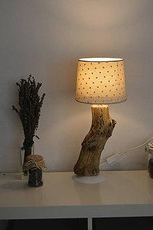 Svietidlá a sviečky - Romantic Lamp - Lampa z dreva bazy čiernej - 8854260_