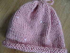 Detské čiapky - statoružová čiapočka s flitrami - 8852356_