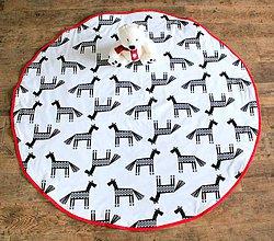 Textil - Okrúhla detská hracia deka čiernobiela - 8852653_