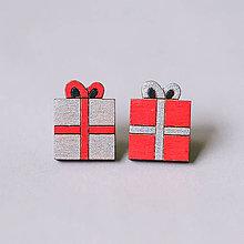 Náušnice - darček farebný - napichovačky - 8855154_