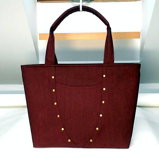 801d7bda11 Veľká taška - bordový denim Radka   EvitaSk - SAShE.sk - Handmade ...