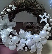 Dekorácie - Vianočný venček - 8851416_