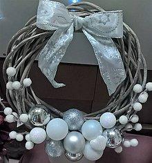 Dekorácie - Vianočný venček - 8851417_