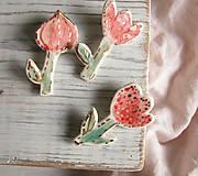 Odznaky/Brošne - Květina červená - posledníSLEVA:) - 8854882_