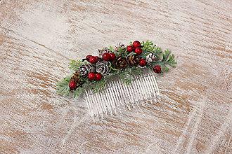 Ozdoby do vlasov - Vianočný hrebienok - 8854798_