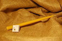 Svietidlá a sviečky - Sviečka z včelieho vosku vysoká - 8852893_