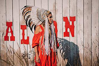 Ozdoby do vlasov - Veľká zdobená indiánka z kolekcie \