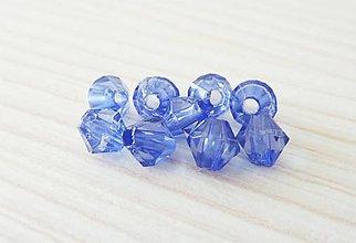 Korálky - Bikonky plastové, 5x5 mm, modré, výpredaj! - 8855287_