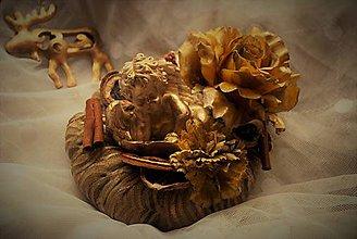 Dekorácie - Veniec anjel a kvet - 8855116_