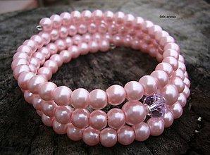 Náramky - Náramok z perličiek - vyber si (ružový) - 8853413_