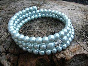 Náramky - Náramok z perličiek - vyber si (šedomodrý) - 8853730_