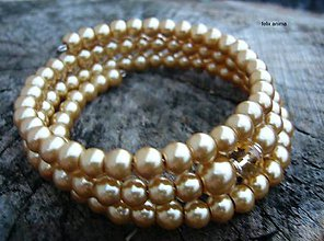 Náramky - Náramok z perličiek - vyber si (bledohnedý) - 8853899_