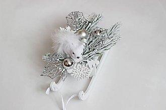 Dekorácie - Dekorácia vianočné sane2 - 8851960_