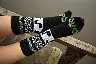 Obuv - Cute ponožky s nórskym vzorom (v.40) - 8854658_