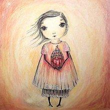 Kresby - Malá láska - Ilustrácia, Reprodukcia - 8851540_