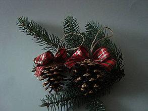 Dekorácie - Vianočné šišky s farbami  Vianoc - 8851534_