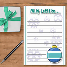 Papiernictvo - List Ježiškovi simple - 8854148_