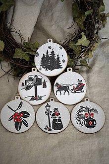 Dekorácie - Sada vintage vianočných ozdôb II. - 8854964_