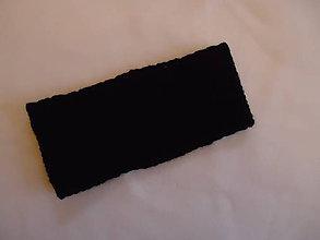 Ozdoby do vlasov - čelenka čierna 10cm - 8859489_