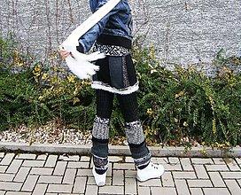 Sukne - riťohrej a štucne-bielo čierna - 8861723_