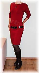 Šaty - Šaty volnočasové červené vel.36 - 8861418_