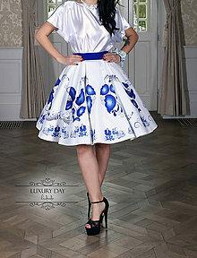 Sukne - suknička FOLK (Modrá) - 8859119_
