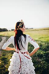 Ozdoby do vlasov - Mosadzný jedinečný venček s farebnými kvetmi - Slavianka - 8860087_