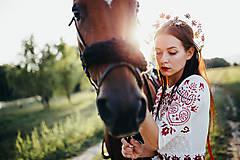 Ozdoby do vlasov - Mosadzný jedinečný venček s farebnými kvetmi - Slavianka - 8860089_