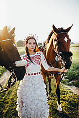 Ozdoby do vlasov - Mosadzný jedinečný venček s farebnými kvetmi - Slavianka - 8860101_