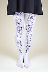 Nohavice - Modré lúčne kvietky - 8860442_