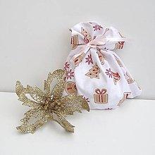 Úžitkový textil - Vianočné darčekové vrecúško - 8857650_