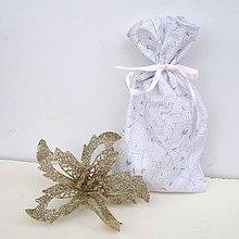 Úžitkový textil - Vianočné darčekové vrecúško - 8857771_