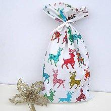Úžitkový textil - Veľké Vianočné darčekové vrecúško, Mikulášske vrecúško - 8857867_