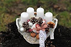 Dekorácie - Vianočný svietnik s medovníkmi - 8856760_