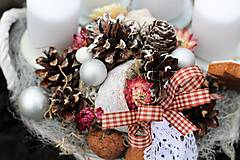Dekorácie - Vianočný svietnik s medovníkmi - 8856762_