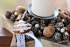 Dekorácie - Vianočný svietnik - 8856834_