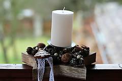 Dekorácie - Vianočný svietnik - 8856836_