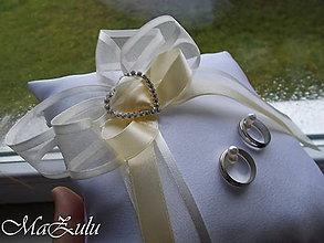 Prstene - svadobný vankúšik pod obrúčky - 8856407_