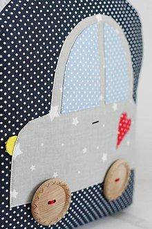 Detské tašky - RUKSAK s autom šedo - tmavomodrý, 2,5r. (4r.) - 8861382_